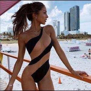 Black & Sheer Bathing Suit